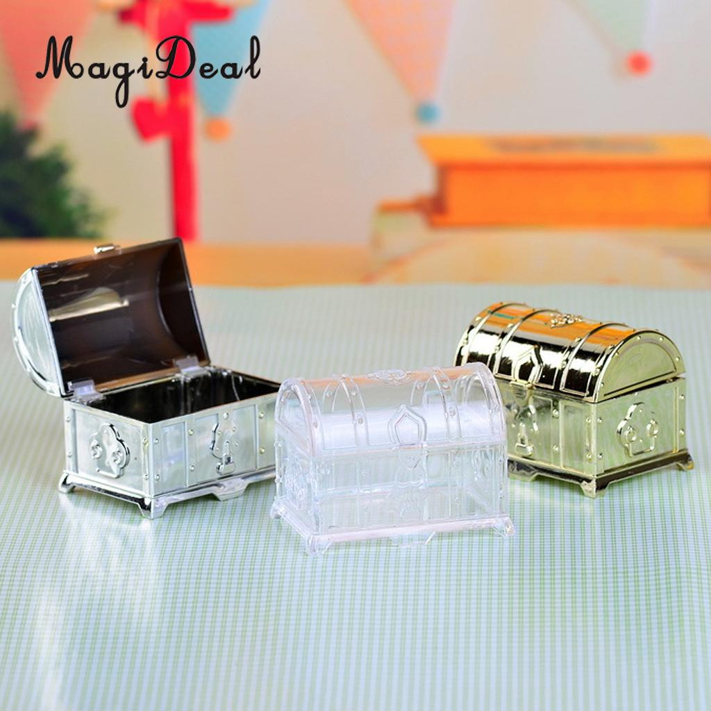 MagiDeal Fashionable 12Pcs Treasure Chest Style Sweet Candy Box Wedding Gift Favor for Birthday Baby Shower Anniversary Occasion