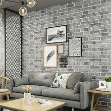 Papel tapiz de papel de pared de ladrillo texturizado Vintage moderno gris rollo dormitorio sala de estar decoración del hogar, naranja, blanco, azul