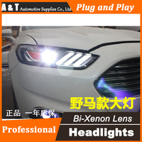 Auto Pro Car Styling For Ford Mondeo Headlights 2013 2015 DRL Lens Double Beam For Mustan