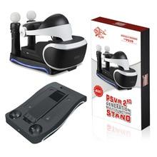 Ekran Standı Için PSVR PS4 VR PS VR Kulaklık 2th Nesil PS Hareket Şarj Istasyonu Vitrin Depolama Tutucu Aksesuarları