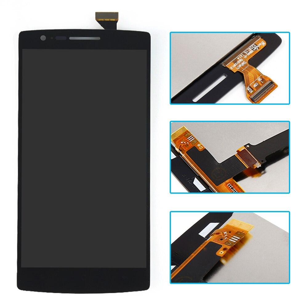 imágenes para Negro Para OnePlus Uno Uno Más 1 + 1 A0001 Pantalla LCD de Pantalla Táctil Digitalizador Asamblea Completa Del Envío Libre + Número de seguimiento