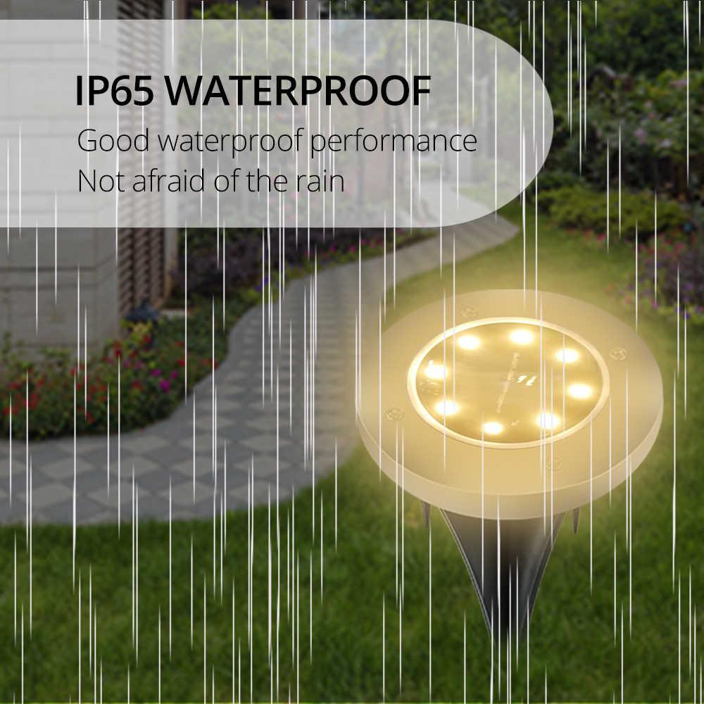 На солнечных батареях грунтовый светильник водостойкий садовый путь настенная лампа 8 светодиодов Открытый Солнечный газон лампа для дома двор лестницы ночные огни