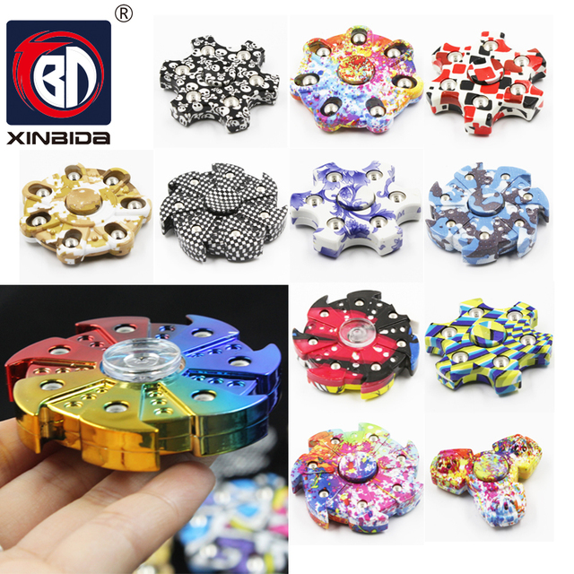 2017 New Tri-Spinner Fidget Toy EDC finger Spinner Anti Stress Reliever And ADAD Hand Spinners