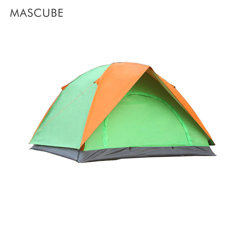 Outdoor Double Two-Door Camping Tent Classic Style Rainproof Sunscreen Camping Tents Large Space Applicable To A Wide Range outdoor tent double rainproof anti uv structural stability ventilation performance camping tents
