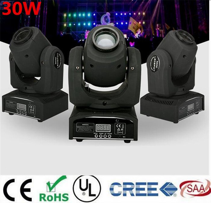 30W mini led spot moving head light Mini Moving Head Light  DMX Controller  dj 8 gobos effect stage lights/ktv bar disco
