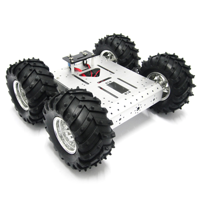 4WD Smart Robot Car Chassis Platform with High Hardness of Steel for Arduino