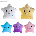 Yamala Colorful Body Pillow Star Glow LED Luminous Light Pillow Cushion Soft Relax Gift Smile 5 Color Body Pillow Free Shipping