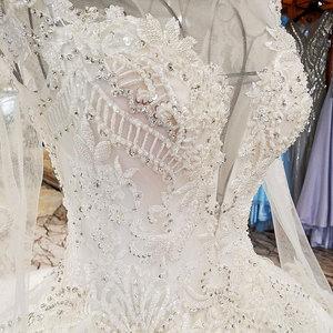 Image 4 - AIJINGYU ウェディングドレスメイドサテン新しいドレストルコ卸売工場デザイナーガウン 2 ピースのウェディングドレス