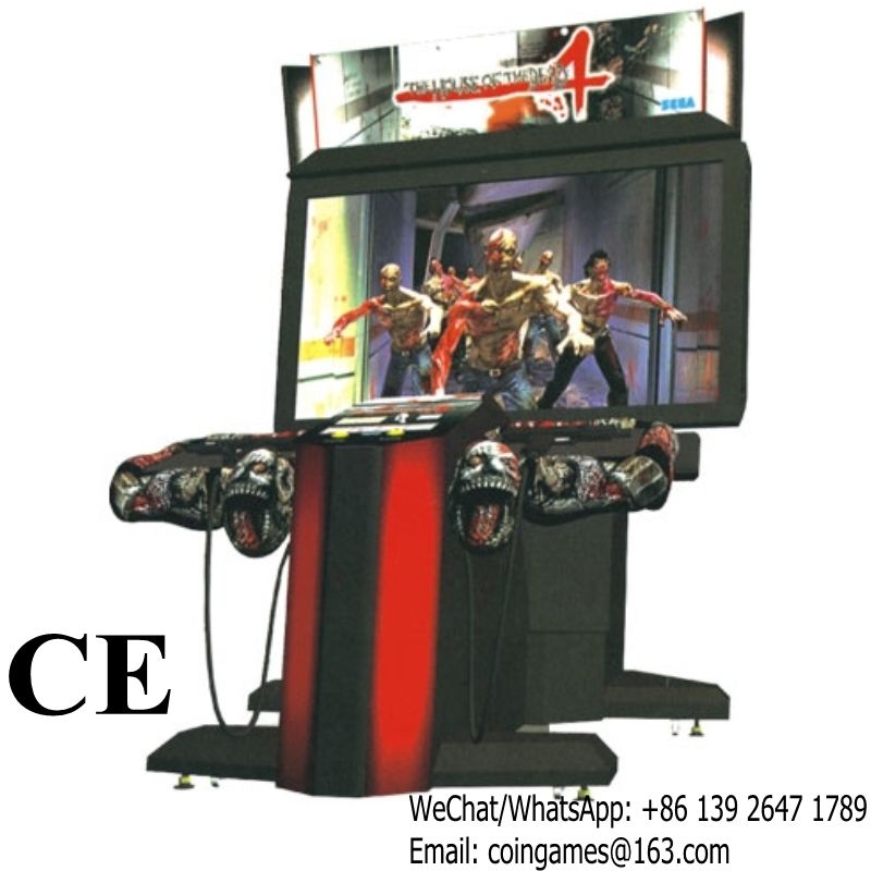 With Video Indoor Coin Operated Amusement Equipment House Of The Dead 4 Gun Shooting Simulator