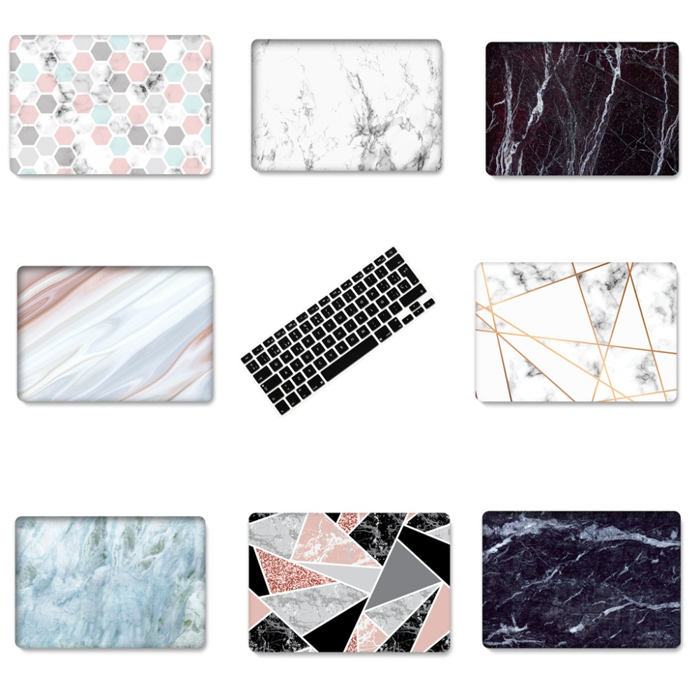 New For Macbook Air Pro Retina 11 12 13 15 Laptop Case Marble Stone PC For Macbook Air 13 Case Pro 13 Laptop Case Keyboard Cover цена