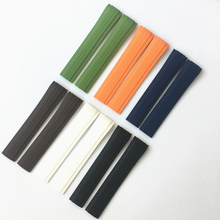 MREJUST 21mm Black Brown Green Blue White Orange Silicone Rubber Watch Strap Band For PP Patek Aquanaut Philippe 5167R 5167A недорого