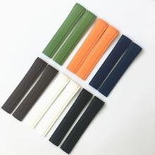 MREJUST 21 мм черный коричневый зеленый синий белый оранжевый силикон резиновый ремешок для часов Ремешок для PP Patek Aquanaut philpe 5167R 5167A