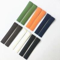 MREJUST 21mm Preto Marrom Verde Azul Laranja Branco Borracha de Silicone Watch Band Strap Para PP Aquanaut Patek Philippe 5167R 5167A