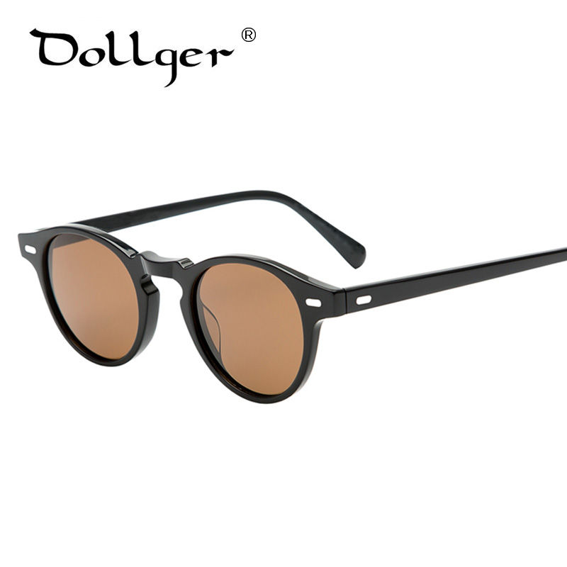 Dollger New Unique Retro Sunglasses Men Clear Oval Sun ...
