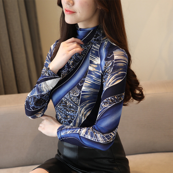 Autumn Plus Size 3XL Long Sleeve Shirt Women Fashion Woman Blouses 2019 Print Lace Blouse Womens Tops and Blouses Blusas 1085 40