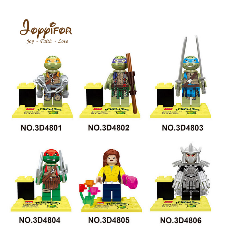 Model Building Hearty Joyyifor Hot Teenage Mutant Ninjagoinglys Turtle Models Compatible With Legoinglys Action Figure Building Blocks For Kids Toys Beneficial To The Sperm