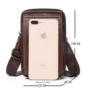 Image 4 - Men Bags Genuine Leather Waist Pack Shoulder Crossbody Bags CrossbMessenger Bag Men Shoulder Bags Phone Pouch Male zznick