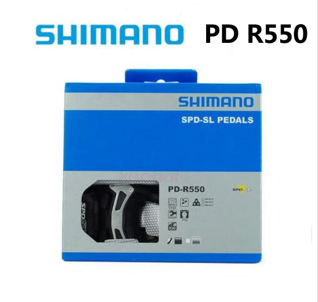 Shimano PD R550 Cycling Road Bike pedales Self-Locking SPD Pedals PD-R550 Components Using for Bicycle Racing Cleats Parts