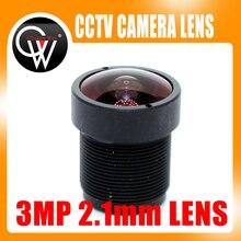 """5 unids/lote 3MP HD 2,1mm lente IP Cámara lente tablero de MTV IR M12 lente F2.0 1/2. 5 """"para cámaras de seguridad CCTV HD"""
