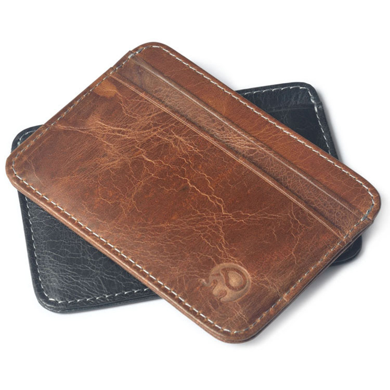 Wholesale Good Leather Thin Business Bank Credit Card case ID ...