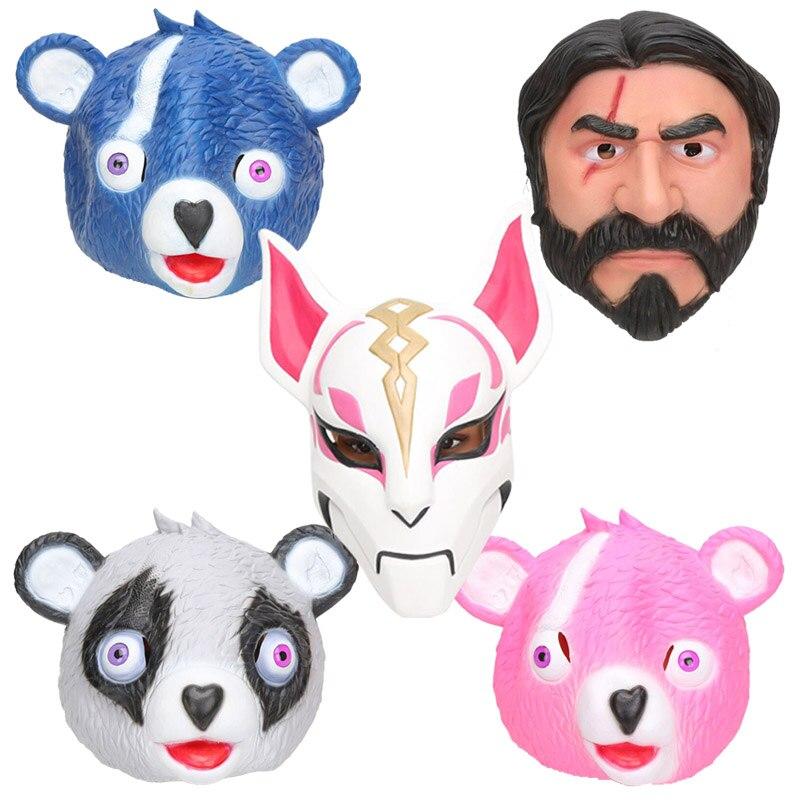 Cuddle Rosa Bär Team Führer Maske John Docht Reaper Fuchs Cosplay Latex Masken Helm Halloween-Party Requisiten für Erwachsene