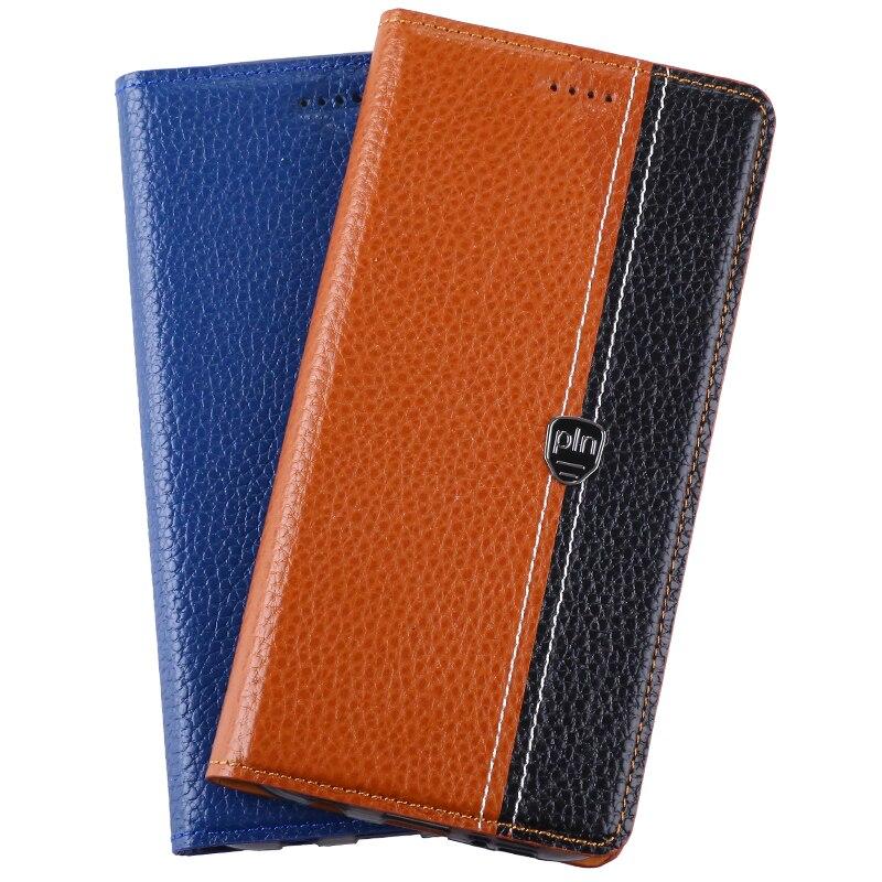 Цена за Case Cover For Microsoft Nokia Lumia 640 650 950 Флип Стенд высокое Качество Магнитной Коровьей Натуральной Кожи Телефон Сумка + Подарок