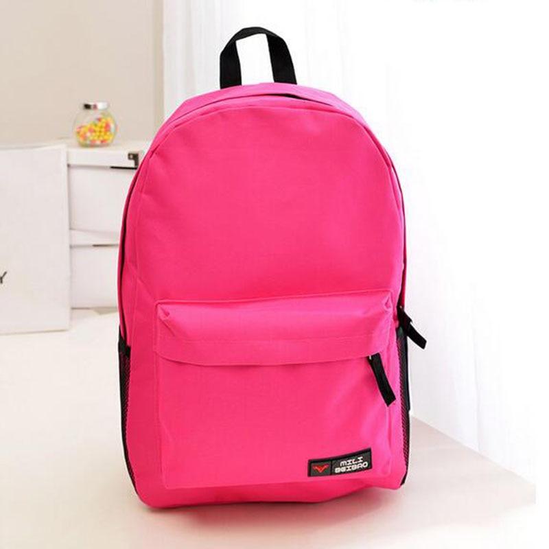 Новые корейские большой Ёмкость Solid oxford рюкзак Для женщин Путешествия Школьные сумки для подростков мальчиков и девочек 17 цветов