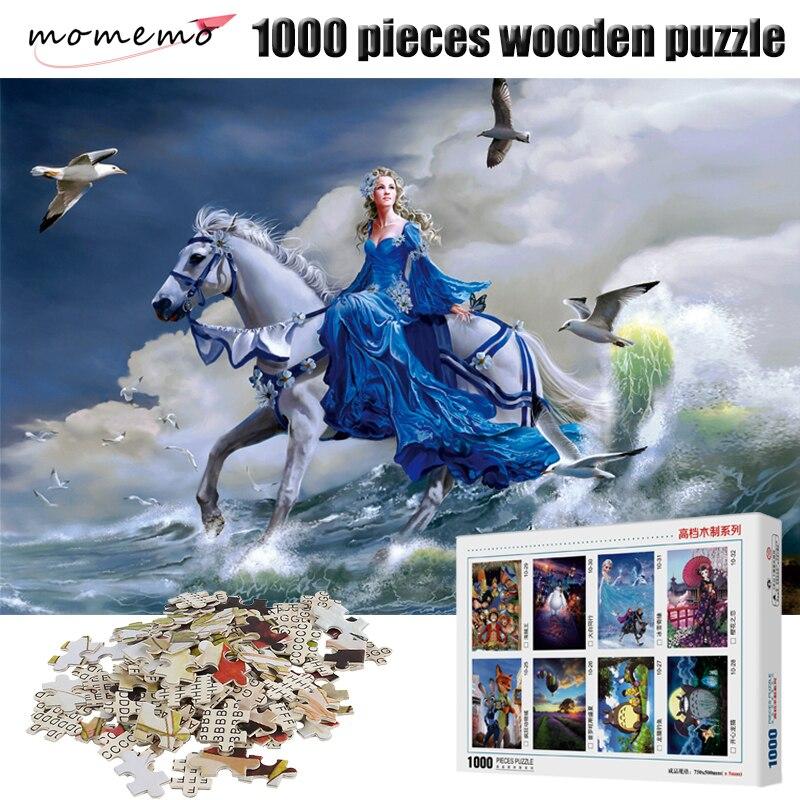 MOMEMO Adulte En Bois Puzzle 1000 pièces Jigsaw Puzzles Paysage Adulte Puzzle Assemblage Des Jouets Puzzles Jeu pour Enfants Cadeaux