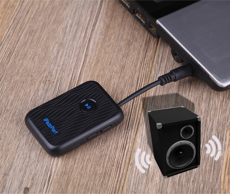 Transmitter Receive Audio Adapter for Device to Get Bluetooth Signal Via AUX port Suit for Computer Speaker Headphone TV Box etc