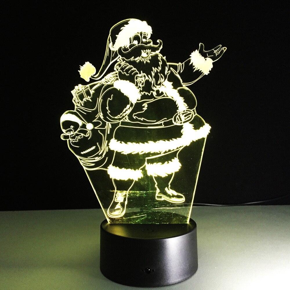 Santa Clause USB led night light Christmas decoration 3D led table lamp kids room Xmas gift lighting lamp infant night-lighting merry christmas santa clause cards 3d pop up greeting card christmas gifts free shipping