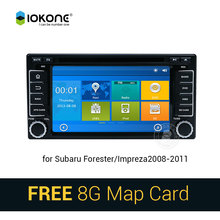 IOKONE Car DVD Video Player GPS navi Stereo multimedia for Subaru Forester/Impreza 2008-2011 With Bluetooth SWC iPOD 8G SD card