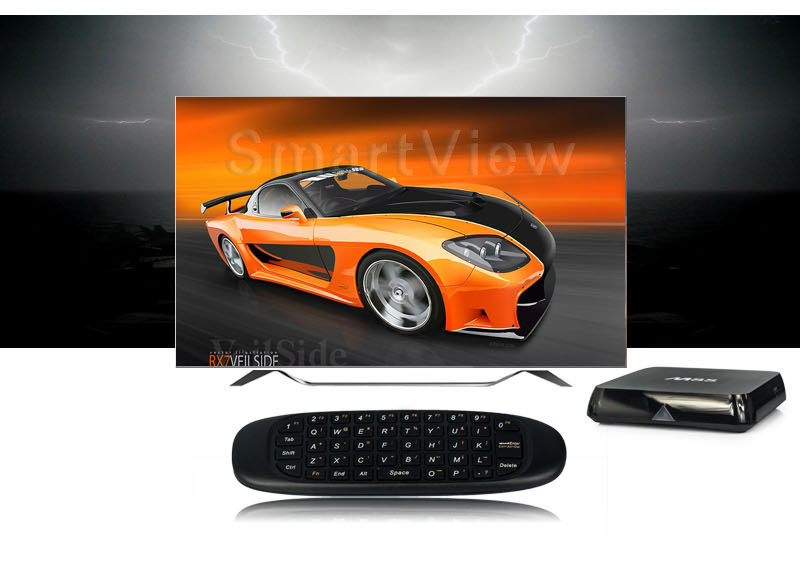2.4GHz Air Mouse Wireless Keyboard Handheld Play Game Remote Control Smart TV BOX PC black 15 2
