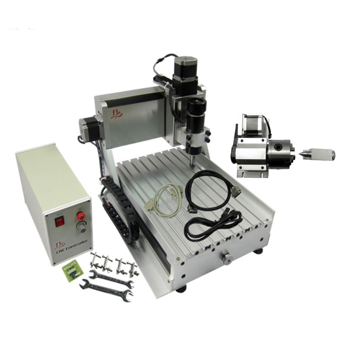 3020 cnc cutting machine rotary axis mini wood engraving router with 4axis USB and Parallel port mini cnc router machine 2030 cnc milling machine with 4axis for pcb wood parallel port