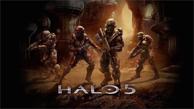 Hot Sale Living Room Home Wall Decoration Fabric Poster Game Halo 5 Game  Guardians Wholesale Drop