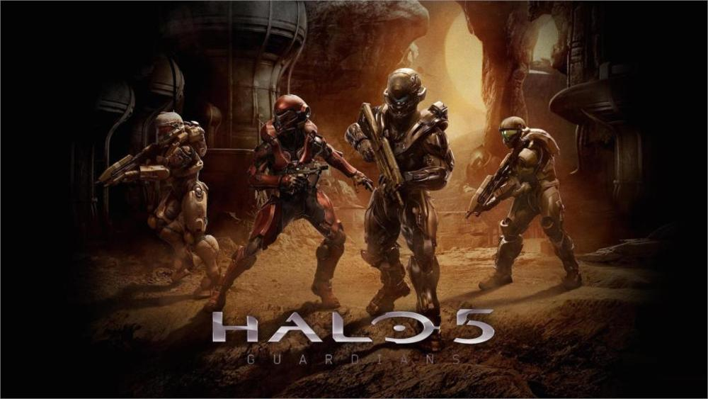 Hot Sale Living room home wall decoration fabric poster Game halo 5 game guardians wholesale drop shipping image