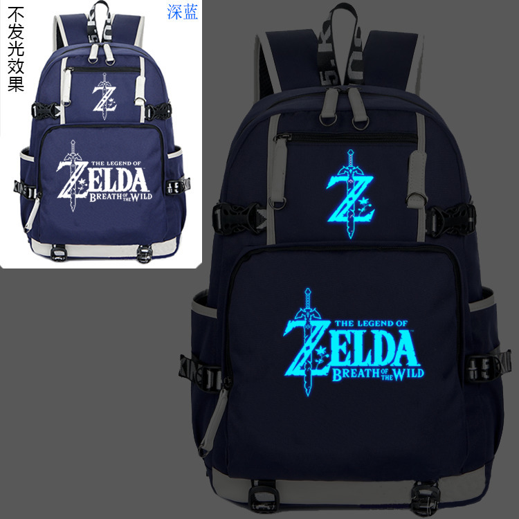 New The Legend of Zelda Luminous Backpack Cosplay Breath of the wild Eye Student Schoolbag Unisex Travel Shoulder Laptop Bags 3