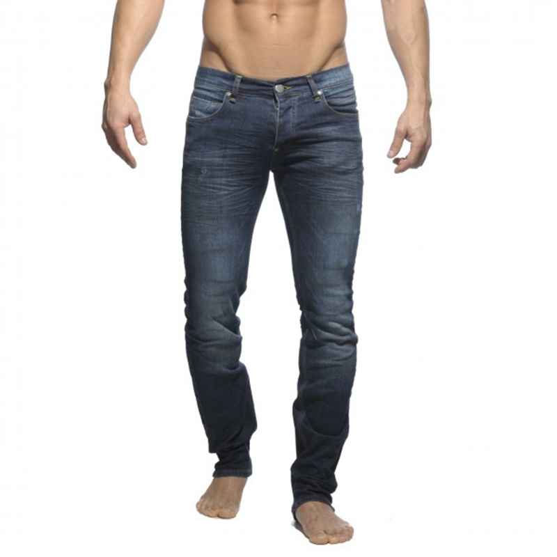 mens straight heavyweight jeans scratched full length slim zipper fly enzyme wash stained stretch 5P0604