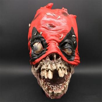 Halloween Super Hero Deadpool chory ponury maska taniec Party śmieszne maska Terror fantazyjne gry lateks straszny dowcip krwi maski silnika tanie i dobre opinie Kostiumy Unisex Żel krzemionkowy Esihou Dla dorosłych