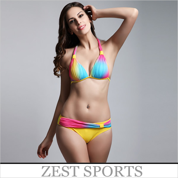 European and American popular,Rainbow Sexy youth bikini for girl/women,with chest pad,swimwear/swimsuit,High-grade fabrics,5946 european youth policy regarding active youth participation
