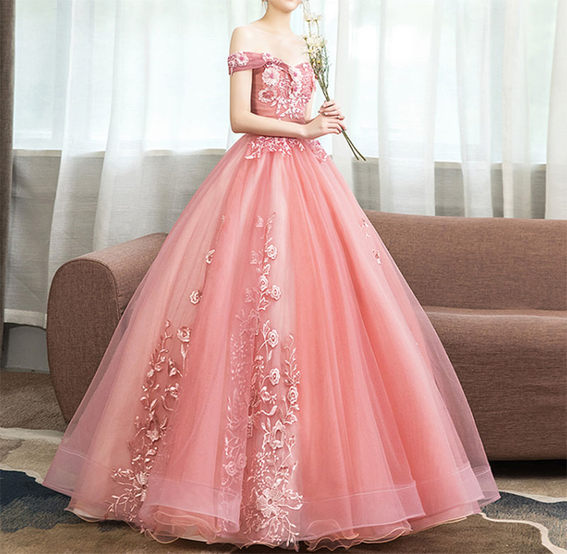 New Off The Shoulder Dress Sweet 16 Quinceanera Dresses Ball Gown Long Prom Dress Lace Appliques G0126 in Quinceanera Dresses from Weddings Events