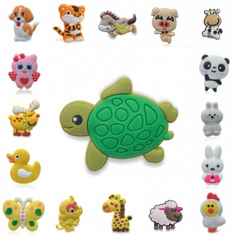 1pcs Animals PVC Cartoon Shoe Charms Shoe Decoration Buckles Accessories Fit Bracelets Croc JIBZ Kids Gifts