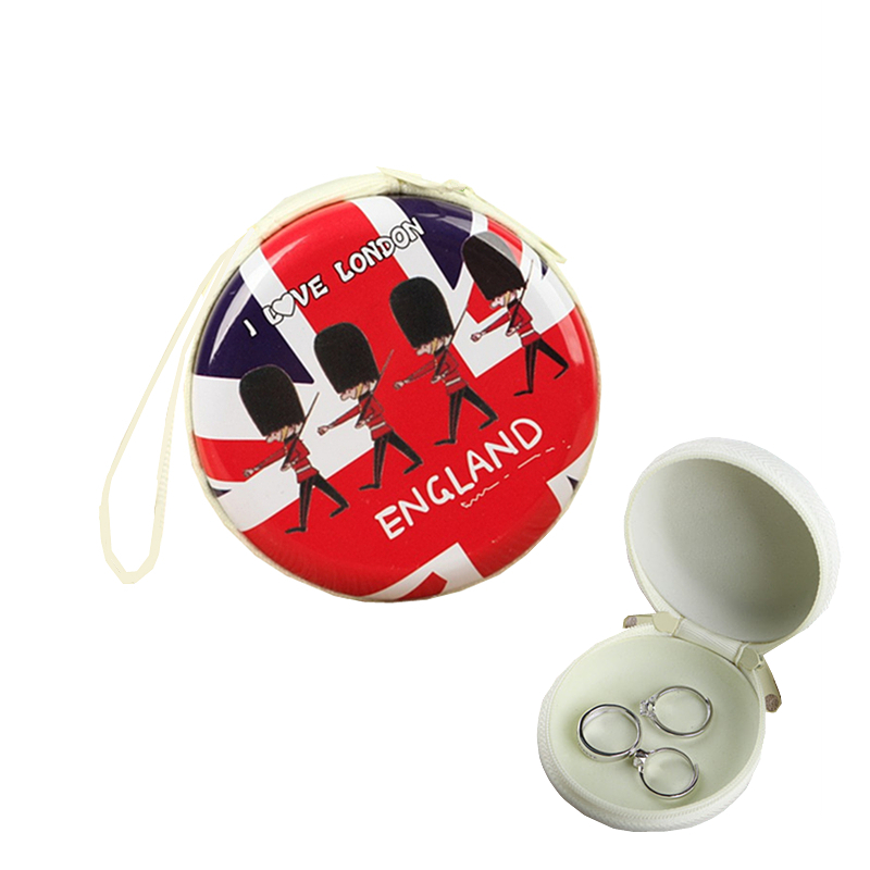 England Soldier Coin Purse Cute Money Headset Keys Holder Storage Iron Box Women's Mini Bags Accessories Supplies Products household england flag pattern password storage box