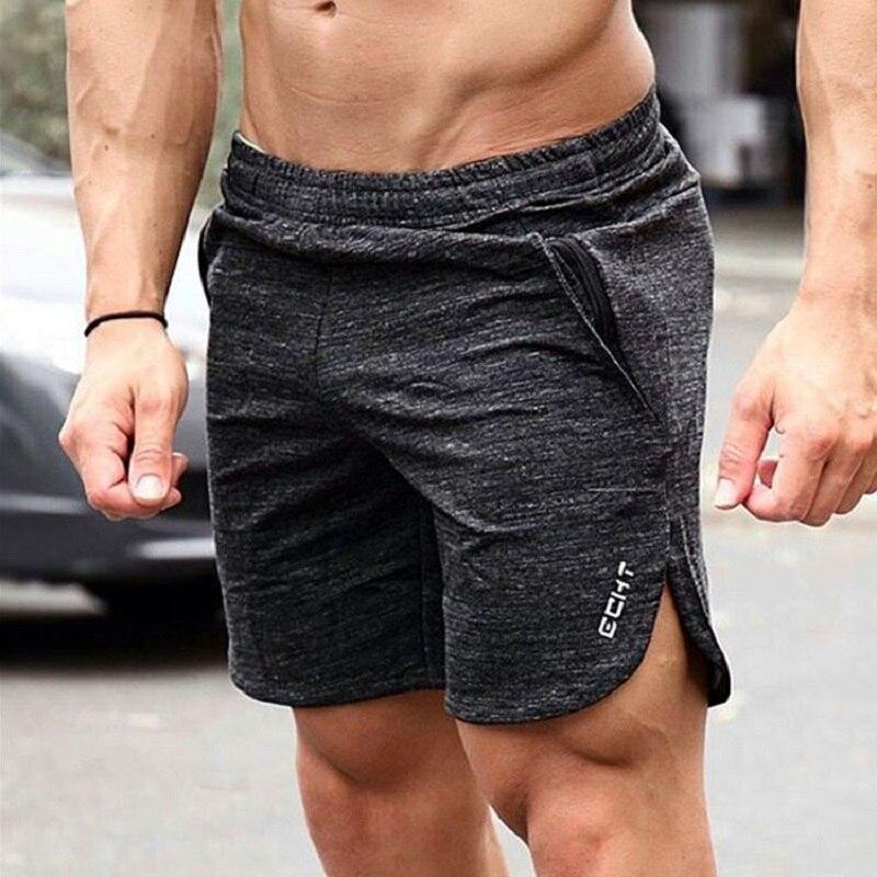 Verano Running Shorts hombres Fitness Crossfit Gym Shorts algodón Sport Shorts entrenamiento Jogging Rashgard entrenamiento ejercicio Sweatpants