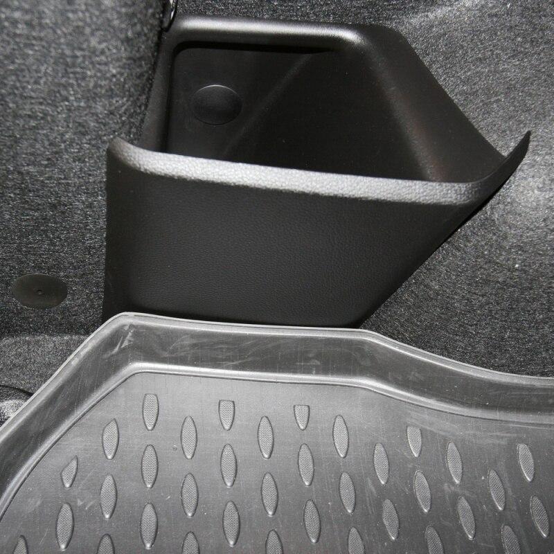 Malle de tapis pour LADA Largus, 2012-> Ung. 5 places. (lot de 2 pièces)