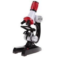 100X-1200X Микроскоп лабораторный набор светодиодный Главная Школа обучающая игрушка подарок Биологический микроскоп для детей ребенок