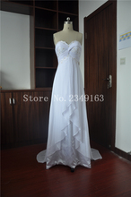 Plus Size Pleat vestido de noiva Floor Length Custom Made Chiffon Zipper Bridal Dresses Appliques Wedding Dresses