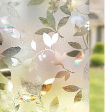 Window-Films Heat-Control Self-Adhesive Decorative-Leaf Tinted Static Anti-Uv 3D Laser