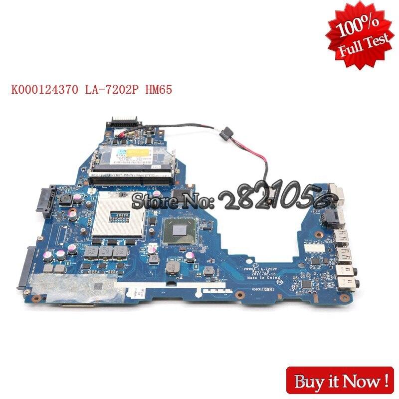 NOKOTION ノートパソコンのマザーボード東芝衛星 C660 K000124370 LA 7202P メインボード HM65 DDR3 GMA HD3000 テスト  グループ上の パソコン & オフィス からの マザーボード の中 1