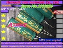 Aoweziic 50 ADET 50 V 1500 UF 13X40 yüksek frekanslı düşük dirençli elektrolitik kondansatör 1500 UF 50 V 13*40