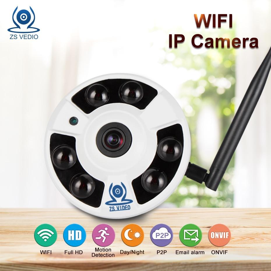 ZSVEDIO Surveillance Camera IP Camera Wi-Fi 720P/960P/1080P 360 Degree VR Panorama IP Cameras Home Security POE Fisheye CCTV 960p 1 3mp 360 degree panorama camera wireless intercom ip camera